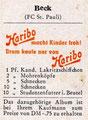 Rückseite eines Sammelbildes: Variante 3: Haribo, Süßwaren, Bonn