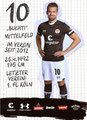 Christopher Buchtmann; Rückseite Autogrammkarte: Saison 2019/20 (2. Bundesliga)