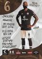 Christopher Avevor; Rückseite Autogrammkarte: Saison 2020/21 (2. Bundesliga)