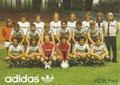 Mannschaftskarte 2: adidas Werbekarte; Saison: 1977/78; Ligazugehörigkeit: 1. Bundesliga