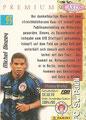Trading Card 93: Rückseite Trading Card; Panini Premium Cards 95/96