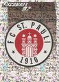 Glitzer Sticker 370: FC St. Pauli Wappen; Fußball' 97; Panini Bilderdienst, Nettetal, Kaldenkirchen
