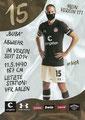 Daniel Buballa; Rückseite Autogrammkarte: Saison 2020/21 (2. Bundesliga) Variante 2: Rückseite: Schriftzug oben rechts: Mein Verein 111