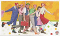 Sticker 84: Gesundheit durch Clowns-Besuche... (links); Rund um Sankt Pauli; St. Pauli Sammeln! Panini Bilderdienst, Stuttgart; Sticker 85: Gesundheit durch Clowns-Besuche... (rechts); Rund um Sankt Pauli; St. Pauli Sammeln! Panini Bilderdienst, Stuttgart