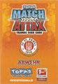Rückseite einer Trading Card dieser Serie: Abwehr; Match Attax Special; Bundesliga 2010/2011; Topps