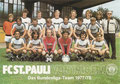 Mannschaftskarte 1: Das Bundesliga-Team 1977/1978; Saison: 1977/78; Ligazugehörigkeit: 1. Bundesliga