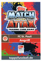 Trading Card 671: Rückseite Trading Card; Topps Match Attax Extra 2018/2019; Topps