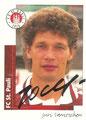 Sticker 452 mit Originalunterschrift: Fußball' 96; Panini Bilderdienst, Unterschleißheim