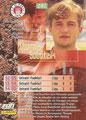 Trading Card 141: Rückseite Trading Card; Bundesliga Cards '96 ran Sat 1 Fußball; Panini Bilderdienst, Nettetal, Kaldenkirchen