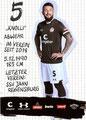Marvin Knoll; Rückseite Autogrammkarte: Saison 2019/20 (2. Bundesliga)