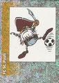 Glitzer Sticker J: Maskotchen, Glitzer Sticker 432: FC St. Pauli Wappen; Fußball' 96; Panini Bilderdienst, Unterschleißheim