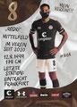 Rodrigo Zalazar; Rückseite Autogrammkarte: Saison 2020/21 (2. Bundesliga)