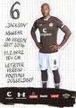 Christopher Avevor; Rückseite Autogrammkarte: Saison 2019/20 (2. Bundesliga)