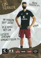 Loïc Favé; Rückseite Autogrammkarte: Saison 2020/21 (2. Bundesliga) Variante 2: Rückseite: Schriftzug oben rechts: Mein Verein 111
