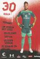 Robin Himmelmann; Rückseite Autogrammkarte: Saison 2017/18 (2. Bundesliga)