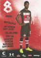Jeremy Dudziak; Rückseite Autogrammkarte: Saison 2017/18 (2. Bundesliga)