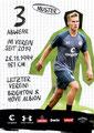 Variante 1: Leo Østigård; Rückseite Autogrammkarte; Saisoneröffnung 2019/2020 Autogrammstunde