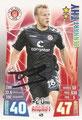Trading Card 429 mit Orginalunterschrift: Lennart Thy; Topps Match Attax 2015/2016; Topps