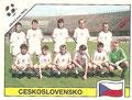 Sticker 79: Mannschaftsbild Tschechoslowakei; Italia '90 (World Cup); Panini Bilderdienst, Unterschleißheim