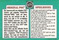 Rückseite Bundesliga Profis: Spielregeln; Pog's Serie 1-4; Schmidt Spiele