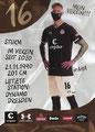 Simon Makienok; Rückseite Autogrammkarte: Saison 2020/21 (2. Bundesliga)