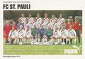 Mannschaftskarte: puma Werbekarte; Saison: 1990/91; Ligazugehörigkeit: 1. Bundesliga