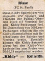 Rückseite eines Sammelbildes: Variante 4: Kiddy Kaugummi, Köln