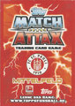 Trading Card 433: Rückseite Trading Card; Match Attax Trading Card Game Bundesliga 2013/2014; Topps