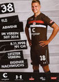 Florian Carstens; Rückseite Autogrammkarte: Saison 2018/19 (2. Bundesliga)