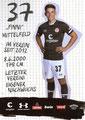 Finn Ole Becker; Rückseite Autogrammkarte: Saison 2019/20 (2. Bundesliga)