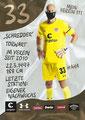 Svend Brodersen; Rückseite Autogrammkarte: Saison 2020/21 (2. Bundesliga) Variante 2: Rückseite: Schriftzug oben rechts: Mein Verein 111