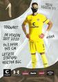 Dennis Smarsch; Rückseite Autogrammkarte: Saison 2020/21 (2. Bundesliga) Variante 2: Rückseite: Schriftzug oben rechts: Mein Verein 111