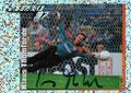 Glitzer Sticker 391 mit Orginalunterschrift: Fußball' 97; Panini Bilderdienst, Nettetal, Kaldenkirchen