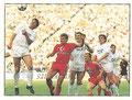 Sticker 330: Spielszene FC Bayern München - FC St. Pauli, Spaß muss sein; Fußball 90; Panini Bilderdienst, Unterschleißheim