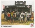 Sticker 74: Festivalverkauf; Die Straße trägt St. Pauli; St. Pauli Sammeln! Panini Bilderdienst, Stuttgart