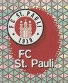 Glitzer Sticker 188: FC St. Pauli Wappen; Fußball Bundesliga (Die Endphase der Saison 96/97); Panini Bilderdienst, Nettetal, Kaldenkirchen