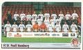 Sticker 166: Mannschaftsbild (links), Sticker 167: Mannschaftsbild (rechts); Fußball Bundesliga 2002; Panini Bilderdienst, Nettetal, Kaldenkirchen