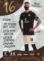 Simon Makienok; Rückseite Autogrammkarte: Saison 2020/21 (2. Bundesliga) Variante 2: Rückseite: Schriftzug oben rechts: Mein Verein 111