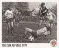 Sticker 142: Tor zum Aufstieg 1977; Sportliche Geschichte; St. Pauli Sammeln! Panini Bilderdienst, Stuttgart