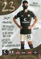 Leart Paqarada; Rückseite Autogrammkarte: Saison 2020/21 (2. Bundesliga) Variante 2: Rückseite: Schriftzug oben rechts: Mein Verein 111