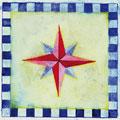 Windrose, 12 x 12 cm, selbstklebend