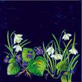 Schneeglöckchen, 12 x 12 cm, selbstklebend