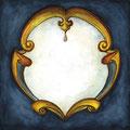Spiegel blau, 12 x 12 cm, selbstklebend