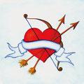 Amors Pfeile, 12 x 12 cm, selbstklebend