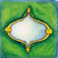 Spiegel grün, 12 x 12 cm, selbstklebend