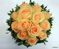Brautstrauß mit Peach Avalanche Rosen