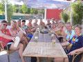 Wir feierten den Aufstieg in die Verbandsliga im Volleyball-Beachclub in Dulsberg.