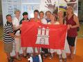 Die Seniorinnen bei der Siegerehrung – Wir sind echte Hamburger Perlen!