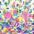 """""""田越川"""" acrylic on canvas 72.7×72.7cm,2012"""