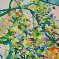 """""""緑の桜"""" acrylic on canvas 80.3×80.3cm,2009"""